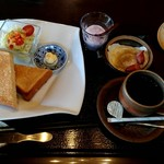 和茶縁 - 料理写真:トーストモーニング 500円
