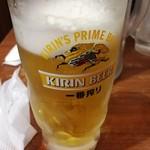 横浜家系ラーメン 綱島商店 - ビール390円