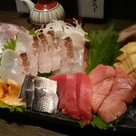 寿司の磯松 - 鯛の姿造り・刺身盛り合わせ