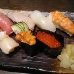 寿司の磯松 - 握り七貫