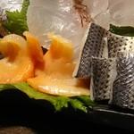 寿司の磯松 - 刺身 コハダ、赤貝