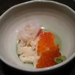 寿司の磯松 - 湯葉 カニ・イクラ添え