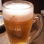 寿司の磯松 - 生ビール