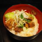 麺匠 茜ノ舞 - セットのチャーシュー丼+200円