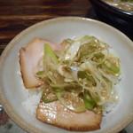 トリイザカヤ 麺 コヤ麺 - ネギチャーシュー丼