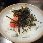 トリイザカヤ 麺 コヤ麺 - 高菜明太ごはん