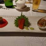 SHIN YEH 101 - 料理写真:前菜の三種盛り