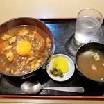 信濃庵 - かつカレー南丼 950円