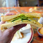 Zakku - タマゴサンドトーストモーニングセット690円