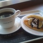 カフェ・ド・クリエ - アメリカン&チョコバナナワッフル