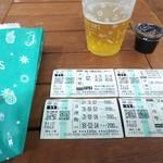 今浪うどん - 生ビールとポテト  1000円