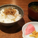 日本料理 香せり - 3800円のコース  ご飯と赤だし