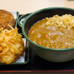 ゆで太郎 - メンチカツカレーそば+かき揚げ