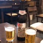 食彩 あさ乃 - ドリンク写真:思わずビール(//∇//)