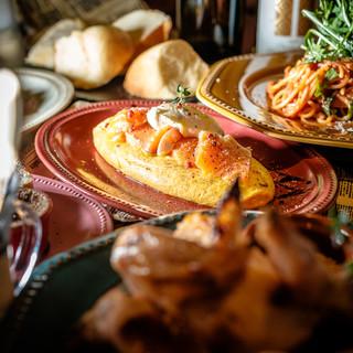 銘柄鶏など厳選食材を使用した本格イタリアンパーティープラン◎