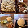 かぜのたみ - 料理写真:鴨せいろ・前菜 1300円 そば饅頭 150円