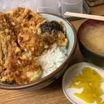 豊野丼 - かき天丼