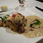 ブルーバイユー・レストラン - 銘柄鶏のグリエ、クリームソース バーボンの香り