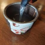 手打ちそば 毘沙門 - 蕎麦湯