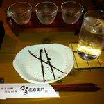 かき左右衛門 - ふだん余り飲まない広島は酔心の3種セットをいただきました。