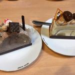 ペールノエル - 料理写真:モンブランロール410円、メゾンドショコラ410円
