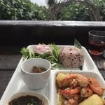 島野菜カフェ Re:Hellow BEACH - ガーリックシュリンプ