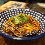 ロットチェント - イカキモのラグー 極太麺(1800円)