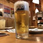 や台ずし 赤萩町 - 生ビール