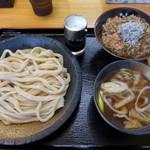 98957123 - 「肉汁うどんセット・ミニおかかちりめんご飯つき」(760円)
