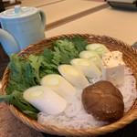 太田なわのれん - 牛鍋御膳8,640円のぶつ切り牛鍋用のお野菜