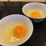 太田なわのれん - 牛鍋御膳8,640円のぶつ切り牛鍋用の卵