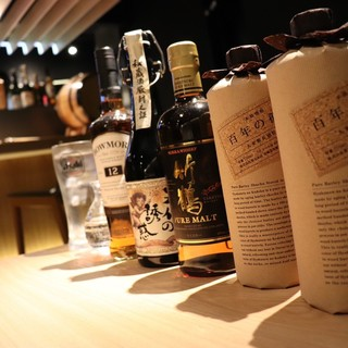 鹿児島の焼酎、山口の日本酒。お料理と合わせていかがでしょうか