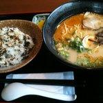 味彩 - 料理写真:ラーメン&高菜