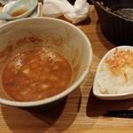 98963846 - 暴れ海老の踊りつけ麺-追い飯