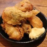 揚鶏屋 伊予 - 牡蠣の天婦羅