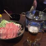 四季鍋ダイニング ヱビス亭 - 豚しゃぶ+ビール
