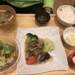 おぼんdeごはん - お肉の定食  1000円