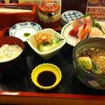 9897850 - 刺身定食+ミニ蕎麦