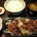 やきやき鉄板 はる田 - 焼肉ランチ ¥700