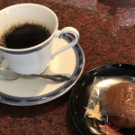 丸峰庵 - 黒糖まんじゅうとコーヒーのセット