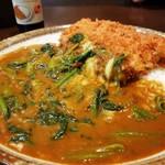 CoCo壱番屋 - 料理写真:豚ヒレカツカレー+チーズ+ほうれん草