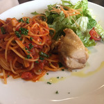 La muto PIZZA&TRATTORIA - Aランチパスタ(1,080円 税込)評価=△ パスタは普通に美味しい!