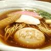 らぁ麺 山雄亭 - 料理写真:醤油らあ麺 1000円 彩美卵の味玉 200円