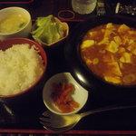 おやじの厨房飲楽食朗 - ランチ「麻婆定食」¥900
