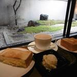 上島珈琲店 - 中庭の眺めて