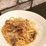 トレカバロ - 【ランチ】牛モツとアキレス 削りたてチーズのスパゲッティ