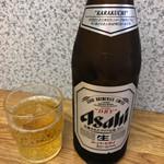 栄龍 - ビール(アサヒスーパードライ) 550円