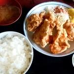 とかち食堂 - 料理写真:とかち食堂@糸井(苫小牧) からあげ定食(500円⇒日替わりメニュー価格)
