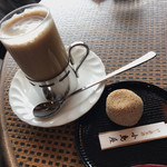 小島屋 - けし餅  カフェオーレ(ホット)