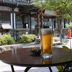 タケヤ - テラスより竹瓦温泉を望む